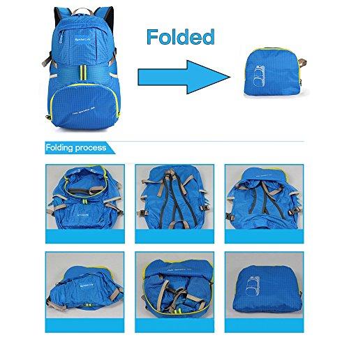 SymbolLife Ultralight pieghevoli uomini e donne regalo sacchetto esterno di corsa di svago impermeabile shopping bags borsa a tracolla blu