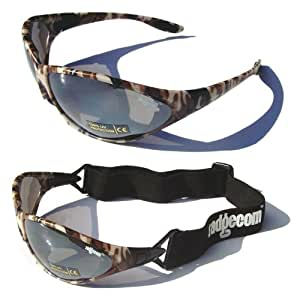 Camouflage Ladgecom All-Weather Sunglasses & Goggles with Head Strap for Cycling, Running & Ski Sports