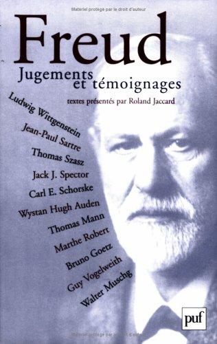 Freud : Jugements et témoignages