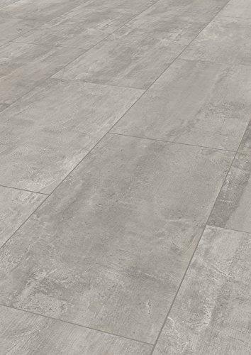 """Laminatboden Kronoflooring""""Impressions"""" 8 mm Stark, Fliesenoptik Laminat mit V-Fuge, Klicksystem, Nutzungsklasse AC4/32 - Sie kaufen 1 m² - (Laminatboden   1 m², Crosstown Traffic, Fliese, K035)"""
