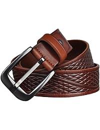 Panegy Cinturón de Piel Vintage Casual Correa de Cintura con Metal Hebilla para Hombres Chicos
