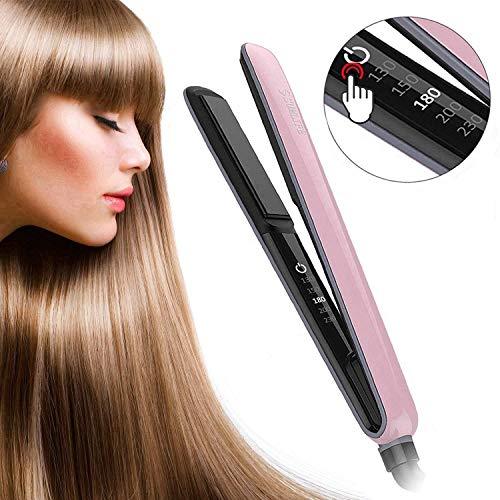 Haarglätter, SUMLIFE Glätteisen Locken und Glätten 2 in 1 Haarglätter und lockenstab in Einem mit Lockenfunktion Profi Keramik für Sleek Curl Kurze Lange Haare, Rosa