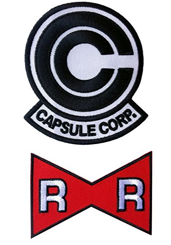 dragon-ball-z-capsule-corp-red-ribbon-parche-set-of-2
