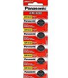 Panasonic/DL1632Knopfzellen 3V Mangan-Oxid Lithium-Akku (5x Pro Pack)