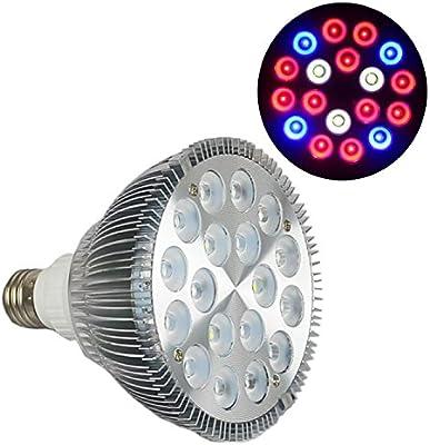 Puretime Grow Light - Bombilla LED, 54 W, E27, PAR38, para cultivo de plantas