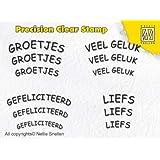 Nellie Snellen Choice Clear Tampon Precission Stamps–Néerlandais Textes–3