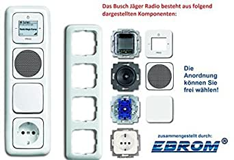 busch j ger flush mounted up wlan inet internet radio 8216 u 8216u alpine white complete set. Black Bedroom Furniture Sets. Home Design Ideas