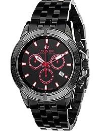 Louis Xvi de Hombre Reloj de Pulsera Majesté L Acier Noir eloxé Rouge analógico de