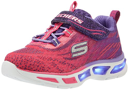 Skechers Mädchen S Lights: Litebeams Sneakers, Rosa (Hppr), 35 EU