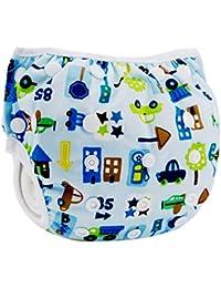 Eizur Neonato Nuoto Pannolino Bambino Infant Lavabile Riutilizzabile Nappy Bambini Diaper pantaloncini Costume da bagno Nuotata breve Breveregolabile mutanda per Spiaggia Estate Vacanza Tipo F