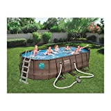 Bestway Power Steel Swim Vista Series Oval Pools, Brown
