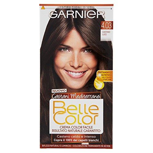 Garnier colorazione castano permanente per capelli con risultato naturale e luminoso