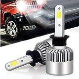 Auto-Scheinwerfer-Lampen-Kit, verbesserte helle weiße Scheinwerfer-Birne, 72W 8000LM 6000K Scheinwerfer-Birnen-Doppel-Hallo/Lo-Strahl (2pcs / set) (H1)