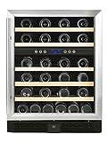 Sonnenkönig of Switzerland Cava 46 Dual Weinkühlschrank / 84 cm Höhe / Freistehend oder für Einbau geeignet / Kompressor-System / silber / schwarz