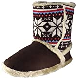 Ladies COOLERS Bootee Slippers Warm Fur Lined Booties Slipper Boots Sz Size 3-8