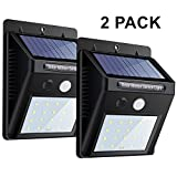 20 LEDS luz de pared con sensor de movimiento, luces de seguridad noche brillante, impermeable Wireless Solar Powered proyector para exterior, Patio, Jardin, entrada de auto, Árbol, Patio, escaleras, zona de la piscina