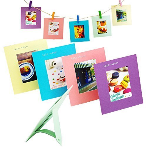 Wand-staffelei Bilderrahmen (Lalo Novo 10 PCS 5 verschiedene bunte 3-Zoll-Rahmen geeignet für Fujifilm Instax mini 8 7s 90 25 50s Film / Pringo P231 Film / Instax SP 1 Film / Polaroid PIC-300P Film / Polaroid Z2300 Film)