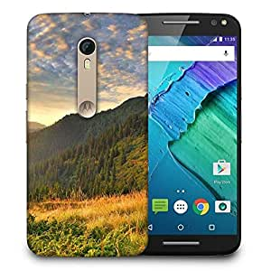 Snoogg Orange Garden Printed Protective Phone Back Case Cover for Motorola X Style