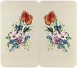 WENKO 2521456500 Herdabdeckplatte Universal Floral - 2er Set