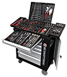 BD Tools Black Sensation Werkzeugwagen Werkstattwagen 6 Schubladen / 4 gefüllt mit Werkzeug