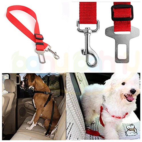 Pet Dog Cat Seat Belts - Durable Adjustable Safety Car Vehicle Restraint Seatbelt Harness for travel with your loved dog pet – INPAY (Black)
