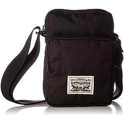Levi's - L Series Small Cross Body, Shoppers y bolsos de hombro Hombre, Negro (Noir Regular Black), 8x20x14 cm (W x H L)