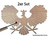 Sagitario pájaro, Sagitario Águila 4mm, Diana, tiro Diversión para aire comprimido, munición diabolo 4,5mm, tiro, tiro Deportes, objetivo de tiro, madera pájaro, fabricado en Alemania, Gastos de Envío libre, 2er Set Ersparnis 9,90 €