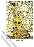 1art1 Poster + Hanger: Gustav Klimt Poster (91x61 cm) Die Erwartung, 1905-1909 (Detail) Inklusive EIN Paar Posterleisten, Transparent