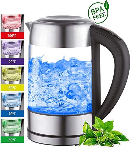 Glas Wasserkocher 1,7 Liter | 22...