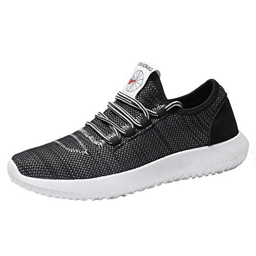 Baskets FantaisieZ Hommes Mesh Round Sneakers Plates Respirant Chaussures de Course Chaussures Occasionnels Baskets en Maille pour Hommes de Trois Couleurs