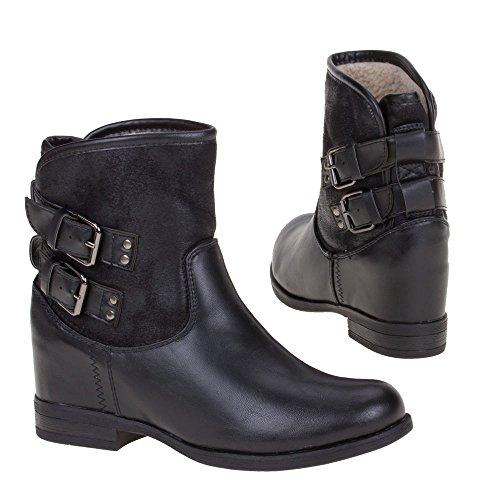 Senhoras 913 Das Ankle Sapatas 1 Preta Boots Rzg5UWw16q