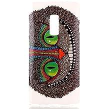 """Funda de TPU Silicona para One Plus 2 / One Plus two 5.5"""" Telefono - Yihya La Piel de TPU Protector de la Cubierta Delgado Suave Carcasa de Silicona Gel Caso Case Cover - Dibujo Diseño (Ojos Verde)"""