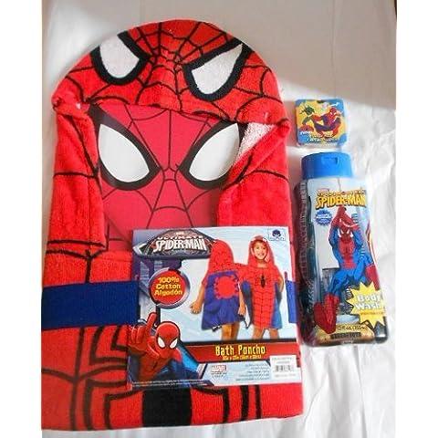 Spiderman 3 Piece Bathtime Gift Set - Spider Man Gift Set