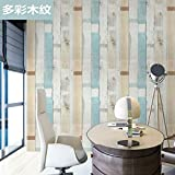 Carta da parati autoadesiva carta da parati camera da letto calda carta da parati impermeabile semplice colore solido sfondo muro colorato venatura del legno