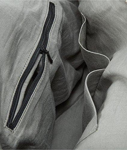 Liebeskind Rundu Leder Handtasche, Hyena grey