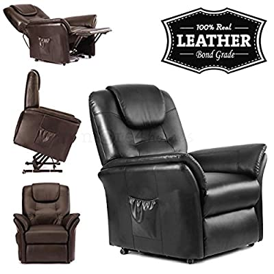 Windsor Elecrtic Rise Recliner Leather Armchair Sofa Home Lounge Chair from more4homes