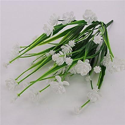 Ukallaite – Ramo de Flores Artificiales para decoración del hogar y 1 Ramo de Camelia Artificial, decoración para el hogar, Hotel, Boda, Fiesta, Color Blanco