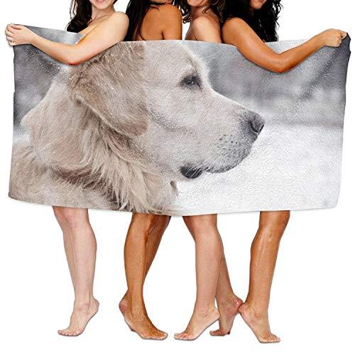 Frottiertücher Strandtücher, Quick Dry Towel Microfibre Towel, Golden Retriever Beach Towels Ultra Absorbent Microfiber Bath Towel Picnic Mat for Men Women Kids 31