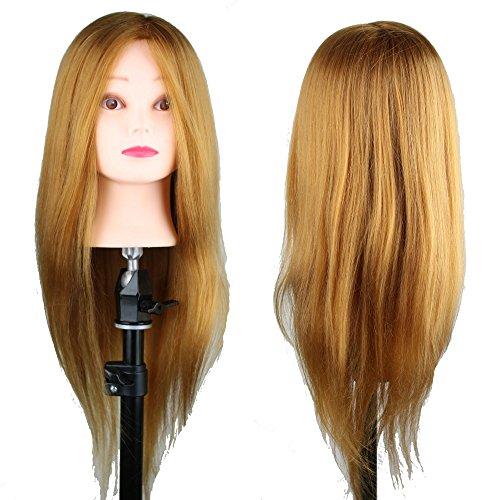 eseewigs Tête Mannequin d'Apprentissage 50% cheveux humains 55,9 cm couleur Marron