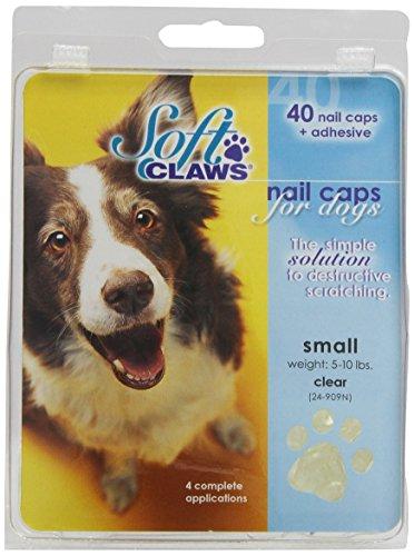 Soft Claws Hunde-Weiche Krallen Hunde und Katzen Nail Kappen Take Home Kit, klein, Natur