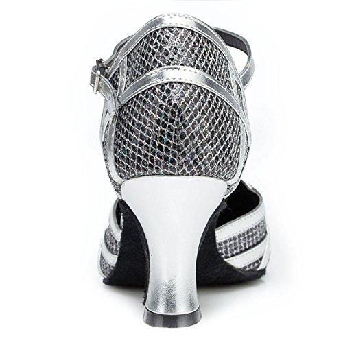 Miyoopark , Salle de bal femme Black/Silver-7cm Heel