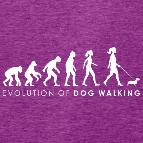 Evolution of Woman - Gassi gehen - Damen T-Shirt - 14 Farben Beere