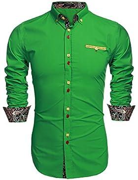 [Patrocinado]Coofandy Camisa Casual Manga Larga para Hombre de Moda