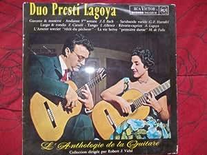 Duo presti Lagoya - L'anthologie de la guitare - Robert J.Vidal disque RCA Victor n° 540.028 M