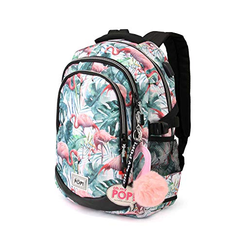 Oh My Pop! Flamenco Tropical-Running HS Rucksack Mochila Tipo Casual, 44 Centimeters 21, Multicolor