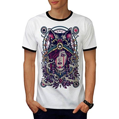Abstrakt Frau Mode Herren M Ringer T-shirt | (Frau Ringer Kostüm)