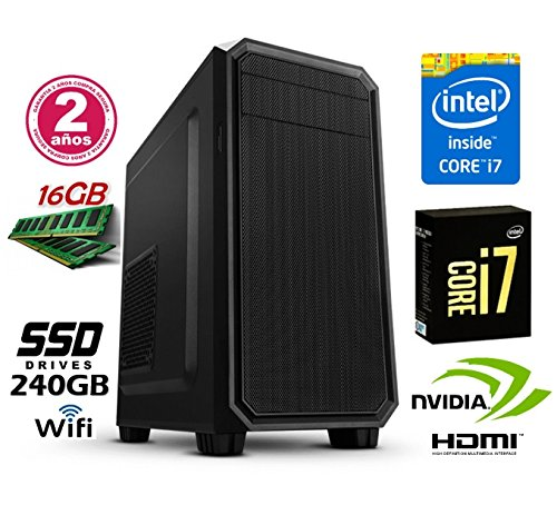 ORDENADOR SOBREMESA INTEL CORE i7 up 3.46Ghz x 4 Cores | GRÁFICA Nvidia GeForce 710 2GB | 16GB RAM | Disco Solido SSD 240GB | RW DVD / CD