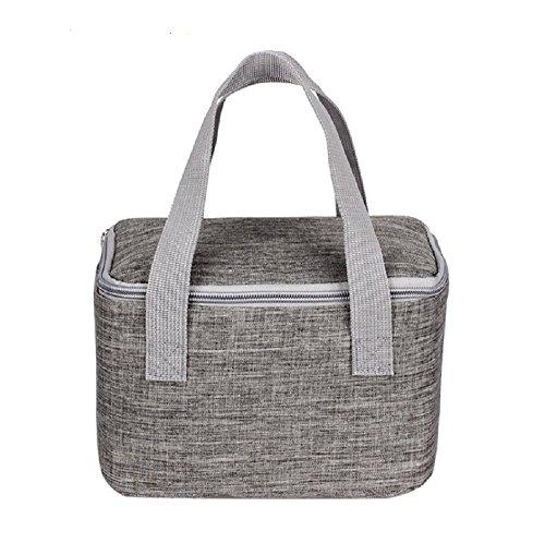 Panlom® borsa termica con manici, borsa frigo portapranzo, per pic-nic, camping, spiaggia, gite, grey