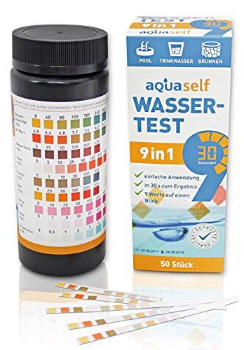 9-in-1 Wassertest – 50 Stück Trinkwasser Teststreifen zur Überprüfung der Wasserqualität