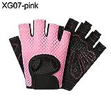 Originaltree uomini donne sport palestra fitness allenamento pesi mezza finger guanti antiscivolo rosa S